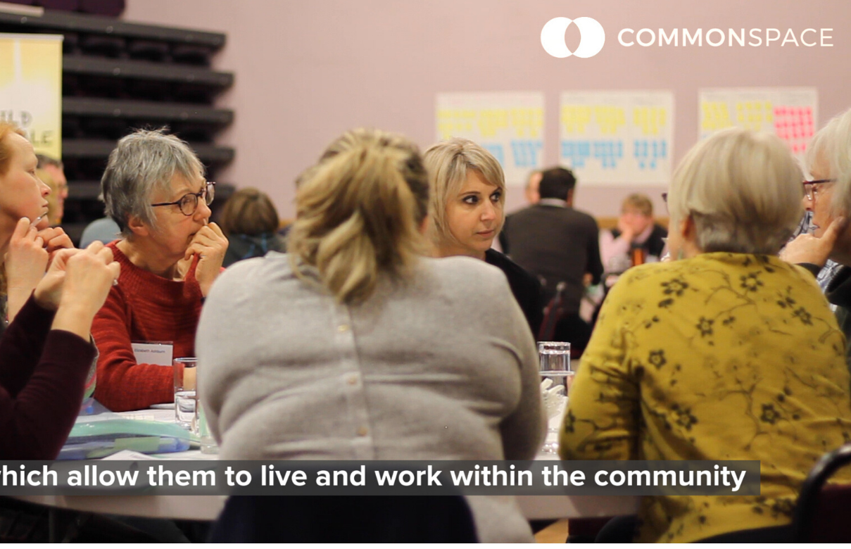 Community Land Ownership Conference - women sat around a table