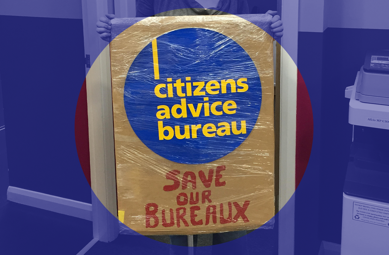 'Save our bureaux' sign