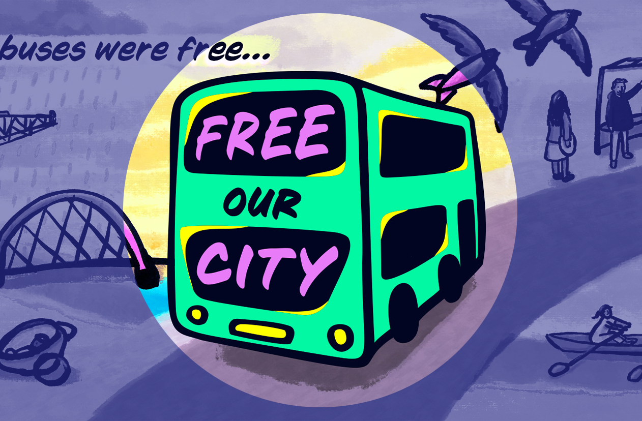 Free Our City campaign artwork